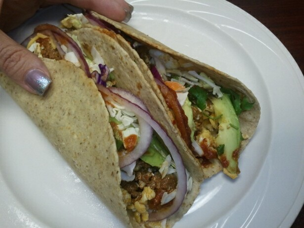 Chelle Stafford Recipe - Eat Clean! Egg and Chorizo Tacos