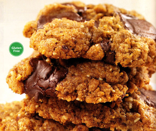 Flour-Free Almond Butter Chocolate Chip Cookies