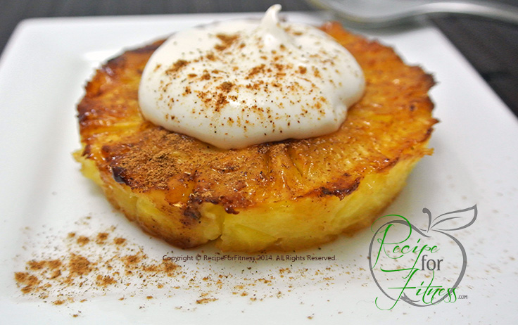 Grilled Pineapple with Cheesecake Filling Recipe