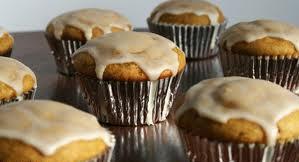 Pumpkin Muffins with Cream Cheese Glaze