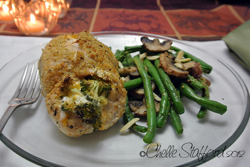 Chelle's Broccoli and Cheddar stuffed chicken